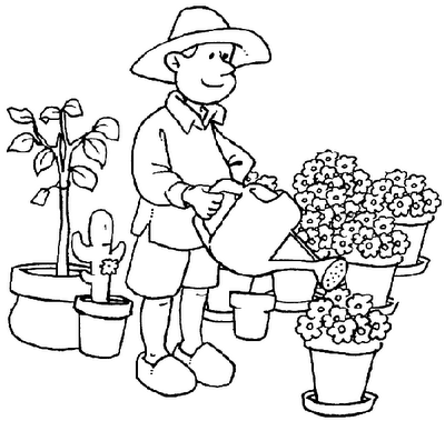 Dibujos y actividades para el dia del trabajador for Trabajo jardinero
