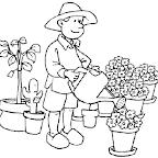 Dibujo Dia del Trabajador - Jardinero