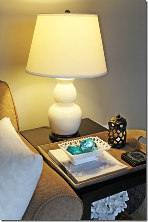Table Lamp Vignette from Setting for Four #Lamp #Living #Room #Decor #Design