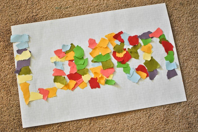 ripped paper easy toddler art-2