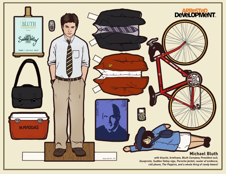 arrested development michael bluth paper dolls