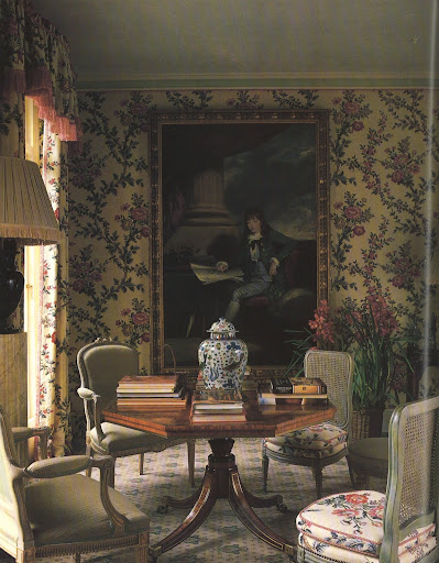 A London drawing room that centers around a delightful portrait of a young Sir Joseph Banks.