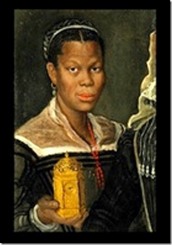 Annibale Carracci (atribuído) Serva Preta (fragmento de maior retrato), ca. 1580