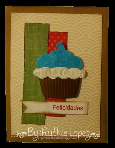 Cupcake card - Latina crafter - stamping paper 3