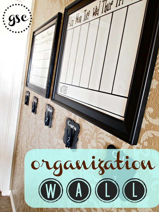 organization wall from GingerSnapCrafts.com