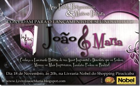 Joao e Maria convite Piracicaba