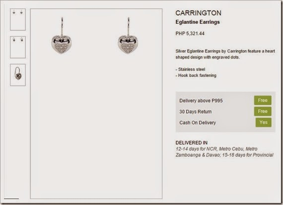 carrington earrings zalora