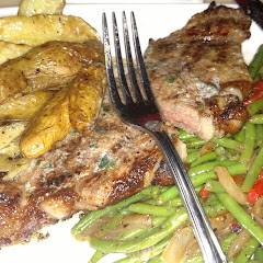 The strip steak with fingerling potatoes and garlic herb butter!! so delicious