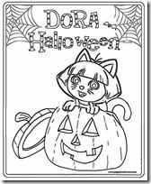 dora halloween jugarycolorear (7)