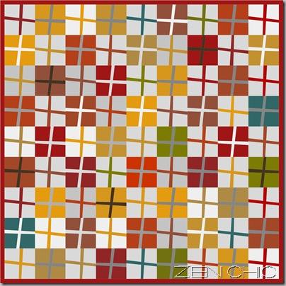Pattern modern quilting ZEN CHIC