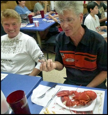 02b2b - Eating Lobster for Syl's Birthday