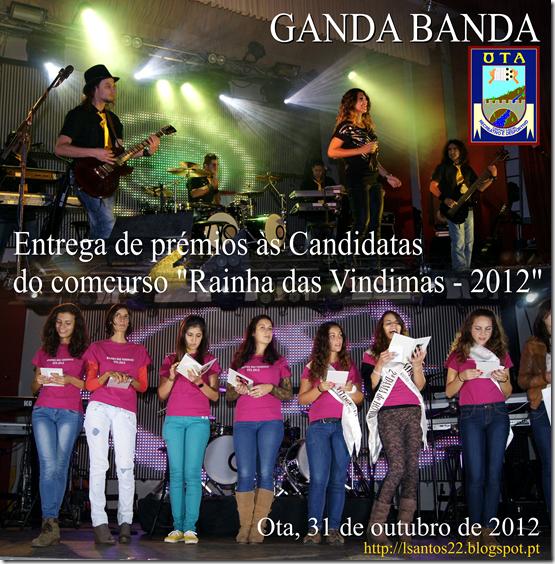 Rainha Vindimas 2012 - baile - entrega prmios - 31.10.12