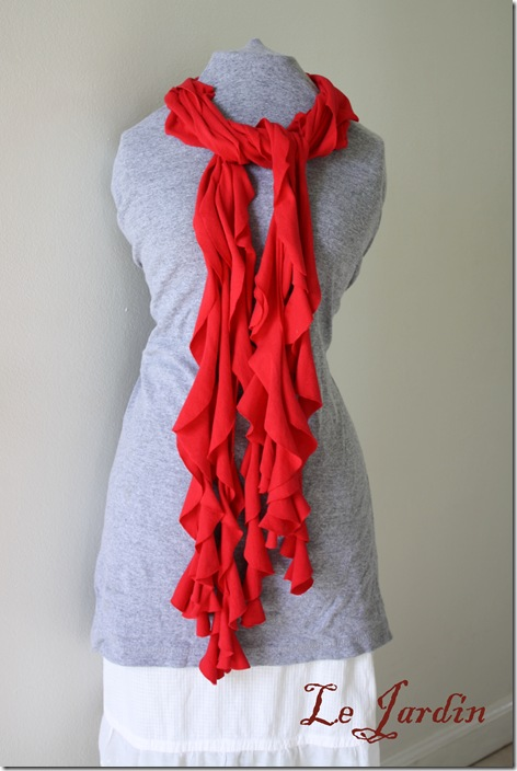 Frilly Tshirt Scarf