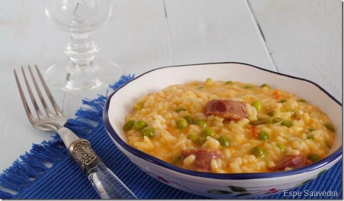 risotto guisantes chorizo espe savedra