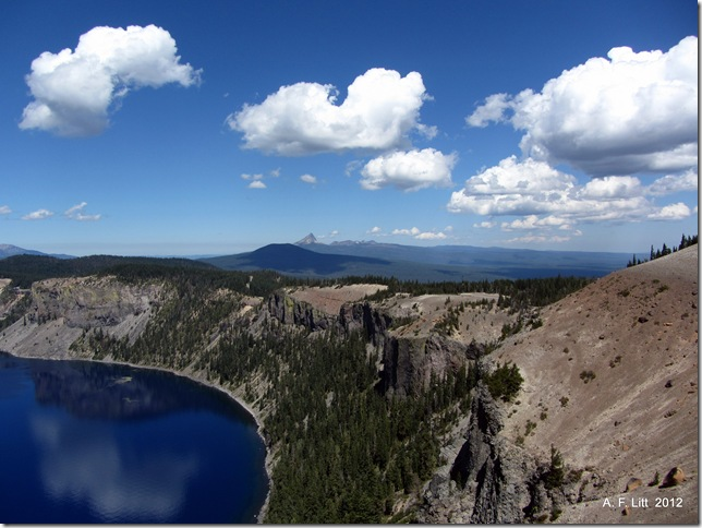 Grotto Cove.  Crater Lake National Park.  Oregon.  August 21, 2012.  Photo of the Day by A. F. Litt: September 25, 2012.