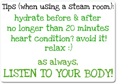 steam room tips