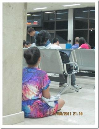 waiting for our HK flight -- at the Mactan Cebu International Airport