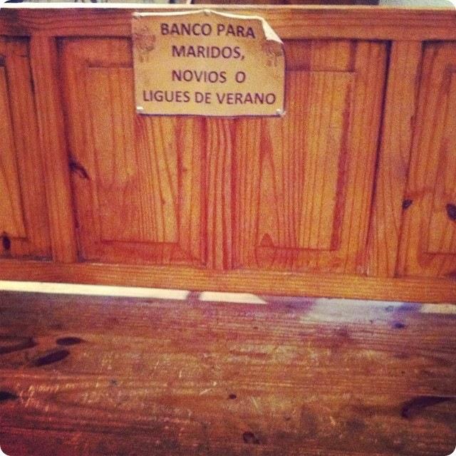 BANCO PARA MARIDOS NOVIOS O LIGUES DE VERANO