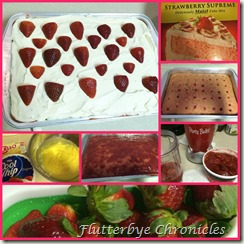 strawberry cake collage