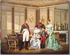 L'impratrice Josphine reoit  la Malmaison la visite du Tsar Alexandre Ier,  qui elle recommande ses enfants, le prince Eugne, la reine Hortense et ses fils Napolon-Louis et Louis-Napolon (futur Napolon III) (mai 1814) - Hector Viger