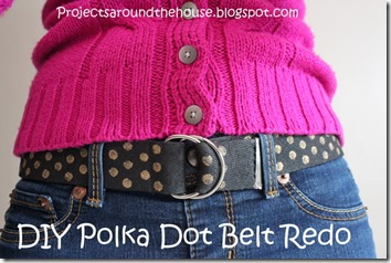 DIY Polka Dot Belt Redo
