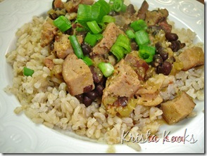 Krista Kooks Cajun Red Beans and Rice