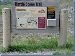 1893 Alberta - Writing-On-Stone Provincial Park - Battle Scene Trail sign