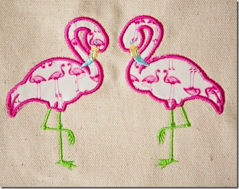 Flamingos Applique4