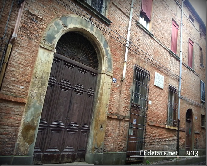 Antica scuola del ghetto ebraico di Ferrara - Old school of the Jewish ghetto of Ferrara, Italy, Photo1