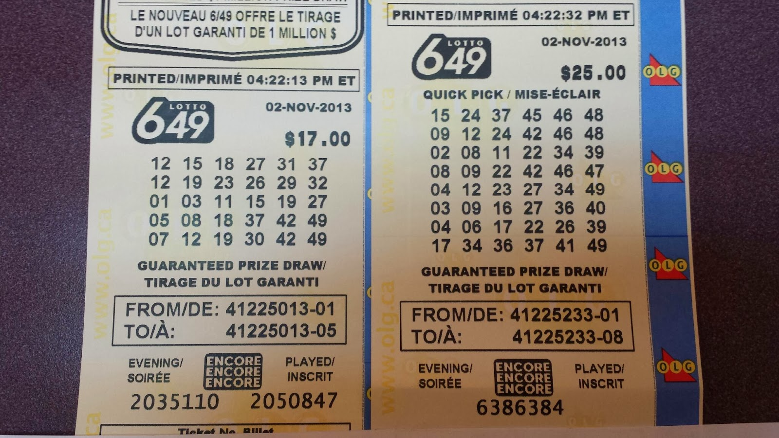how to read lotto 649 ticket