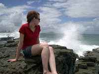 Kristy watches the surf at the rocks.jpg