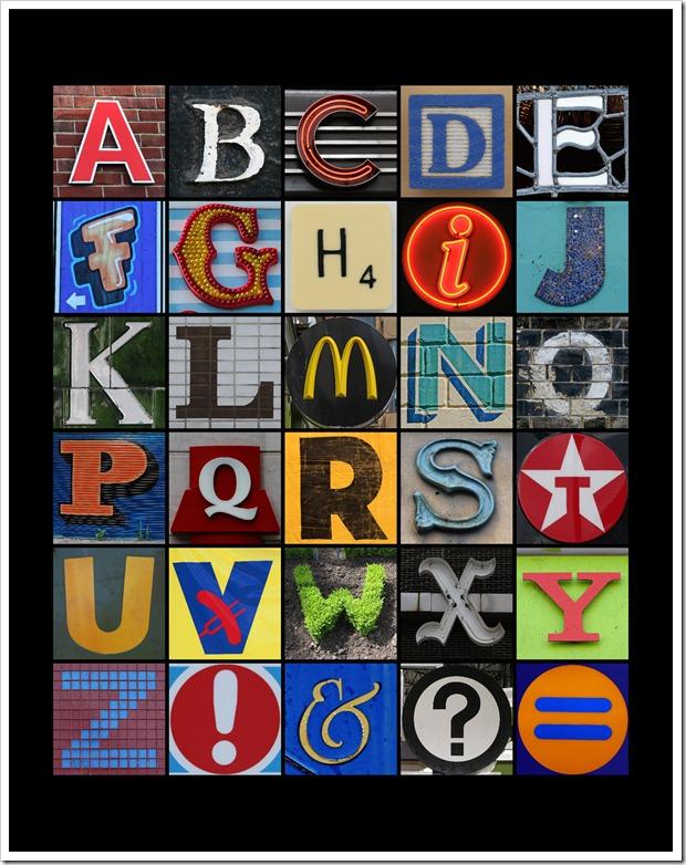 Alphabet Mosaic - 11x14 - Sprik Space