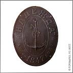 A.5-8.  Фасадная доска «Надежда»  учр. в 1847 году». Жесть, 31,5 х 24 см. Между 1897–1907 гг.   Ч.с.