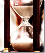 [hourglass of time]