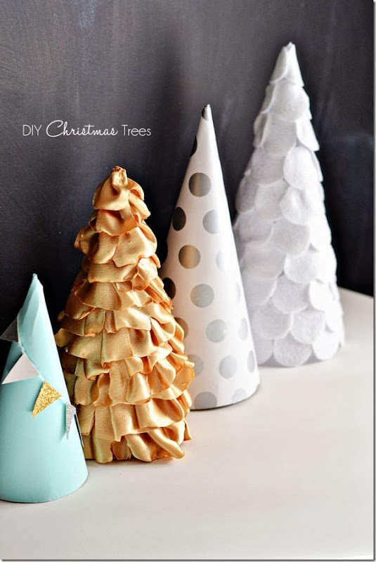 case e interni - decorazioni natalizie fai da te - diy - alberelli conici 1