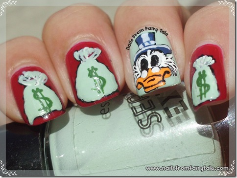 uncle scrooge nail art 3
