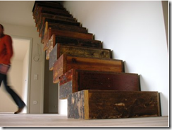 Reclaimed Wood Stairs - Apartment Therapy