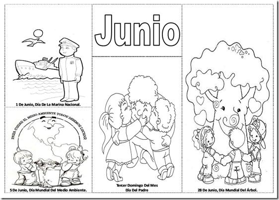 Fechas importantes del mes de junio para colorear -  efemérides de Junio para pintar