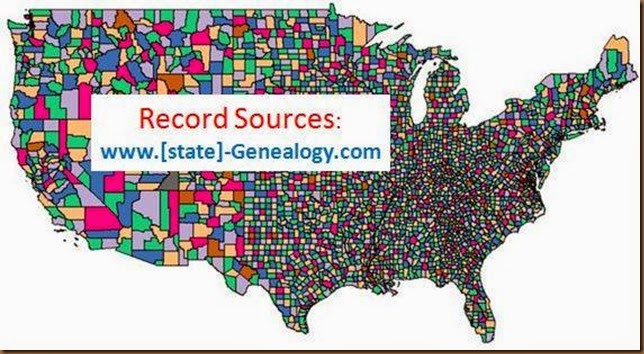 State genealogy website map