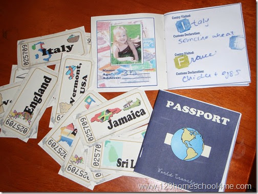 Free printable passport for airplane creative play