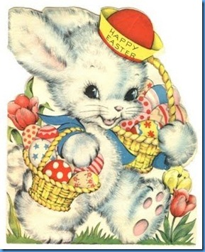 easter blog hop bunny with basket card - Copy