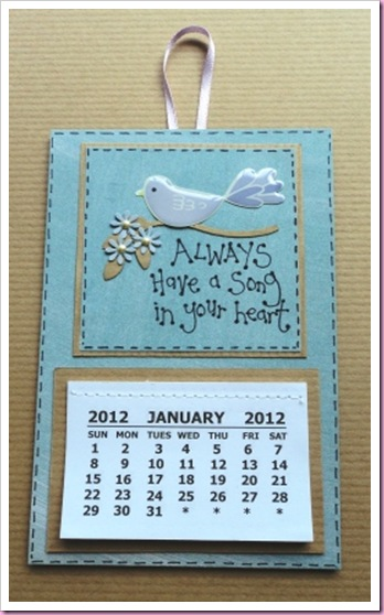 Always have a song in your heart calendar