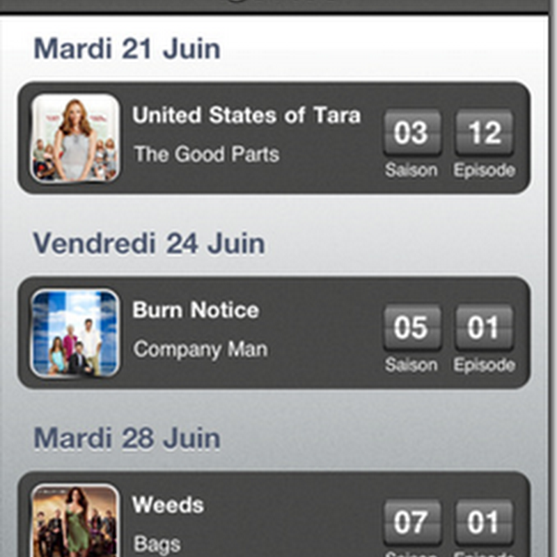 Une application iPhone pour ne plus rater un pisode de sa srie prfre.