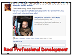 Real professional development - using facebook and videos to help with informal professional development.