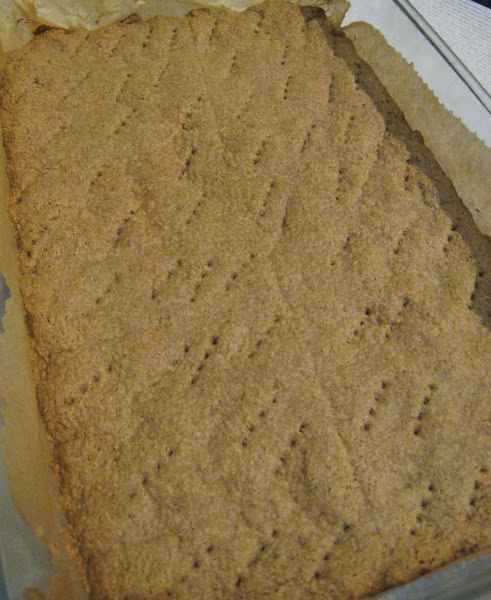 Scot-ish gluten free shortbread, perfectly browned