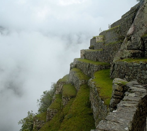 Terraced Fields in Machu Picchu, Peru.