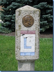 3780 Ohio - Bucyrus, OH - Lincoln Highway (State Routes 4 & 98)(Sandusky Ave) - Lincoln Highway concrete marker