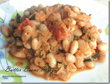 Butterbeans Poriyal