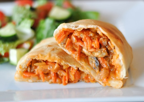 Sausage and Veggie Calzones