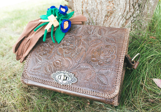 Tooled leather makes for a beautiful statement purse | Lavender & Twill